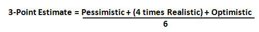 three point formula for estimating